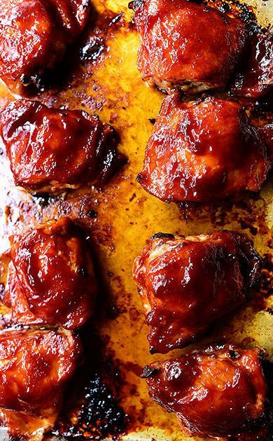 Oven Roasted BBQ Chicken Thighs