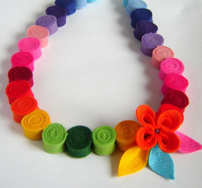 25 Best Ideas About Felt Necklace On Pinterest Felted