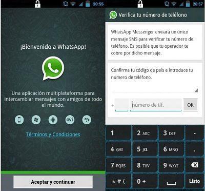 C�mo crear una cuenta de Whatsapp