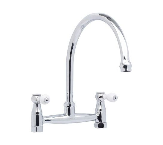 Country Double Belfast Bridge Tap Polished Chrome/Brass
