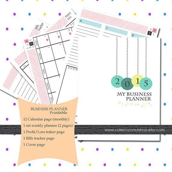 PRINTABLE  Business Planner by CuteCoconutShop on Etsy