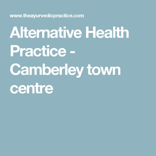 Alternative Health Practice - Camberley town centre