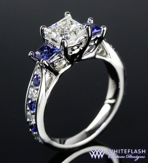 I'm in love with diamond and sapphire engagement rings. (in case you couldn't tell).