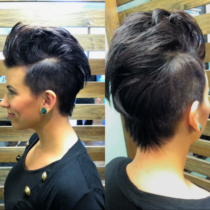 Hair by Dilley---- female Mohawk. Love this short daring style