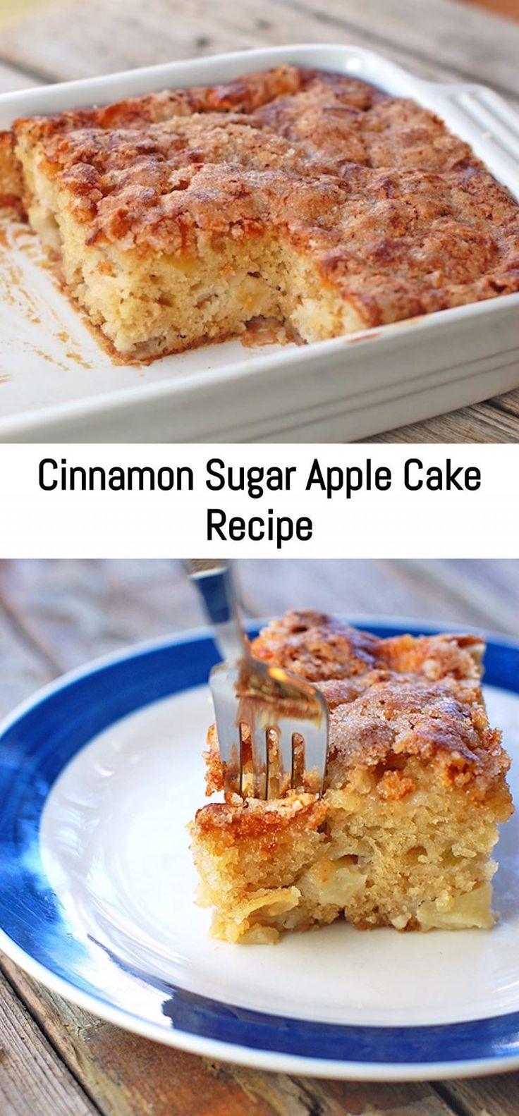 Cinnamon sugar apple cake recipe sanji recipe apple