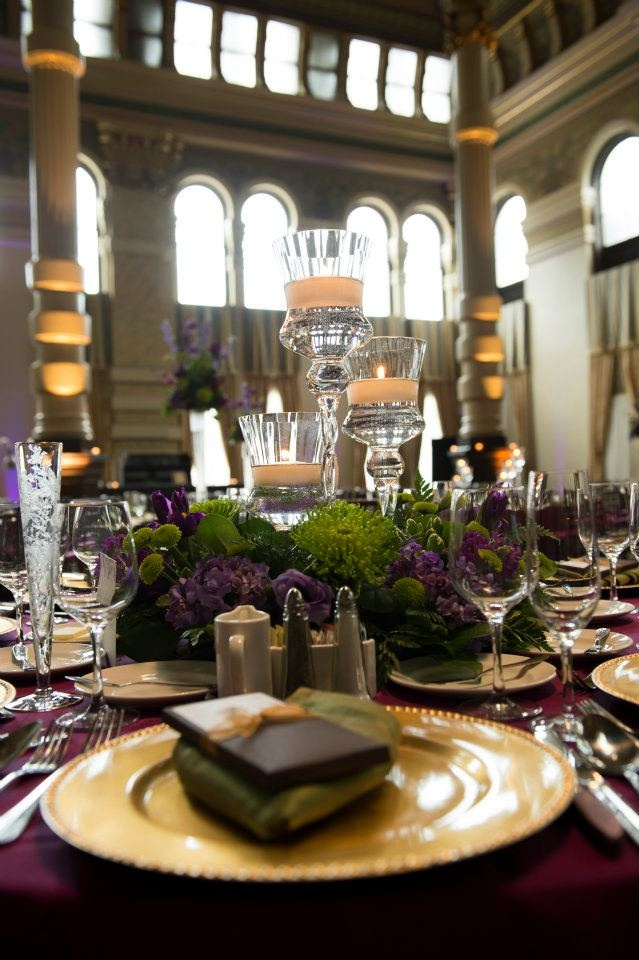 131 best purple green wedding images on pinterest purple green purple and green wedding centerpieces at the grain exchange evenement planning junglespirit Image collections