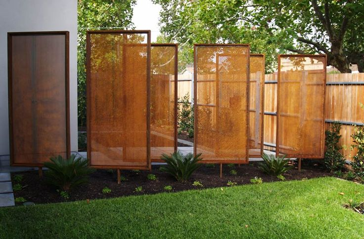 Corten Wall Mounted Feature Screens For The Olinda Tea