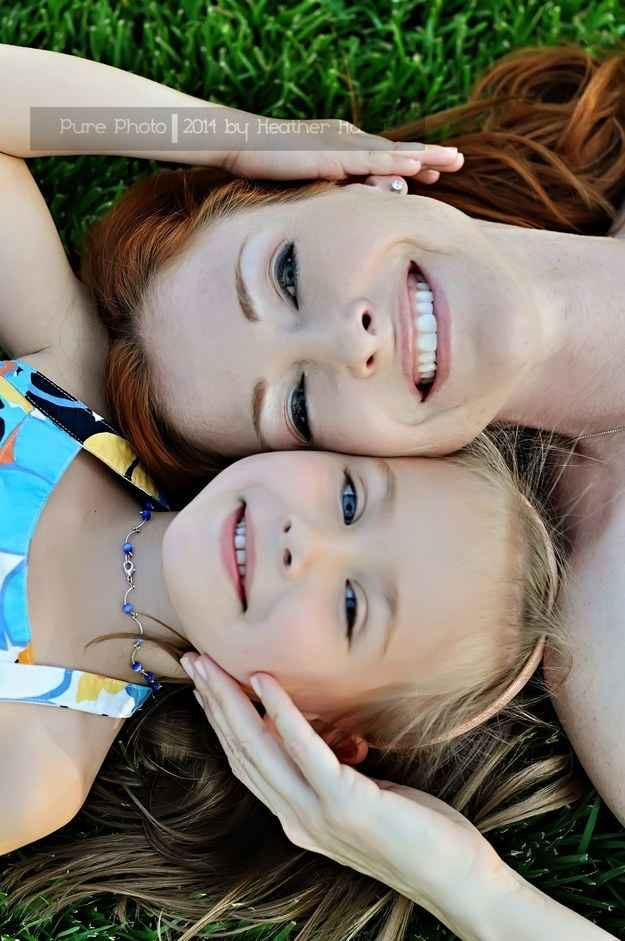 Smoosh your faces close together.   31 Impossibly Sweet Mother-Daughter Photo Ideas