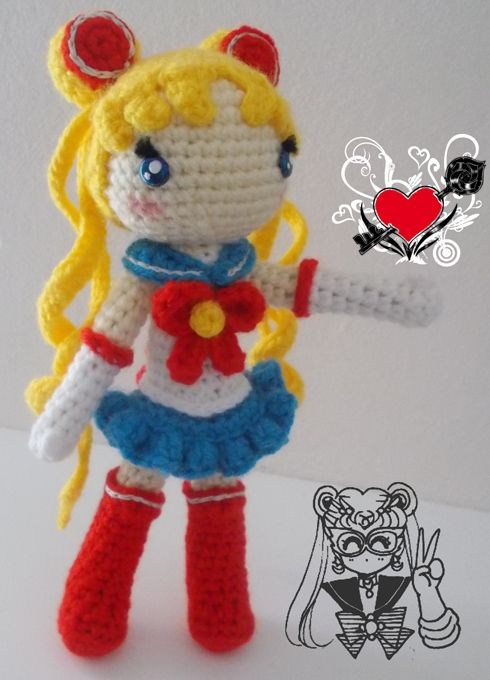 Amigurumi Sailor Moon : 363 best images about Amigurumi on Pinterest Free ...