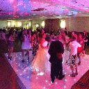 We provide White startlit dance floor hire throughout the North West of England.   Amaze your guests with our spectacular illuminated starlit dance floor.  Our pure white dance floor is set with hundreds of LED starlights that  twinkle and sparkle as you dance the night away.   This is perfect to give any event, birthday, or christening that extra wow factor.  If you are planning a wedding this dance floor is a fabulous must have show piece for the all important first dance.
