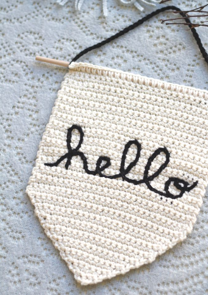 Hello...it's me. :) Oh, Adele...haha. Well, I can truthfully say that I created this sign before Hello blew up our radios and eardrums last fall! A few months ago I had the incredible opportunity to create four crochet video classes with Interweave! Talking and crocheting on camera is new