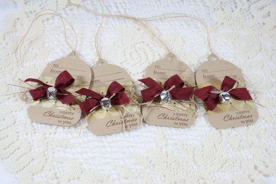 Handmade Holiday Gift Tags with jingle bells...