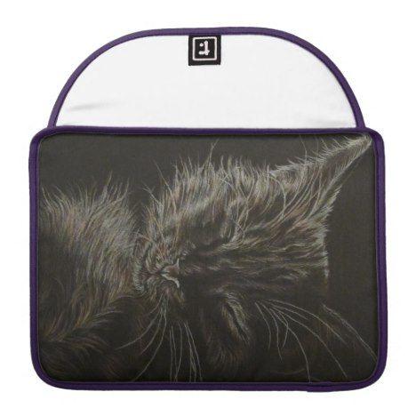 Black Cat on Rickshaw Flap Sleeve #laptop #computer #ipad #mac #sleeve #bags #modern #colorful