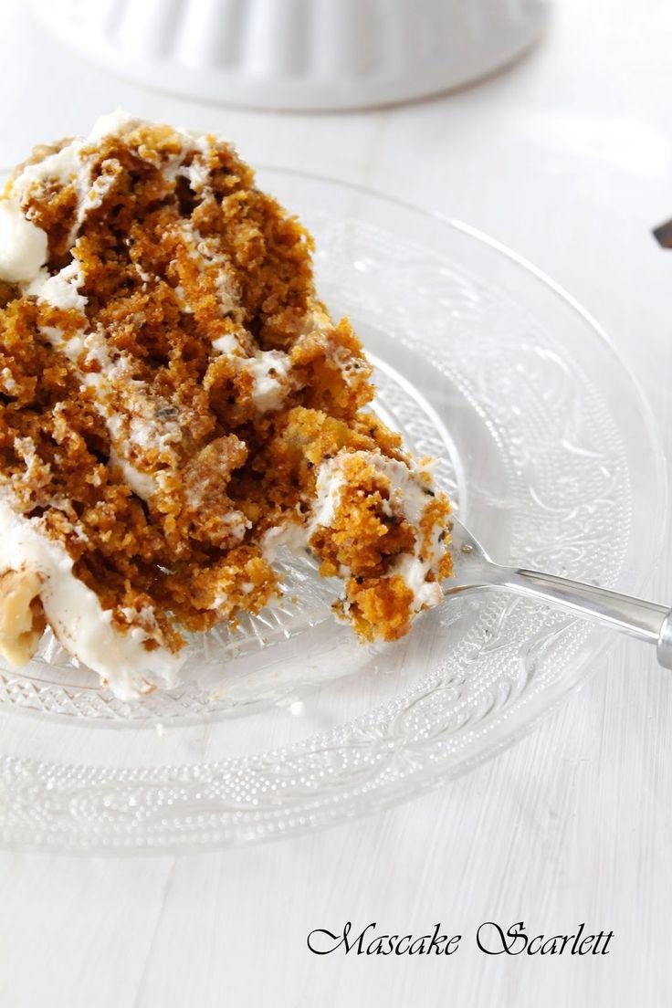 MASCAKE SCARLETT: CARROT CAKE (la mejor tarta del mundo... sin exagerar!)