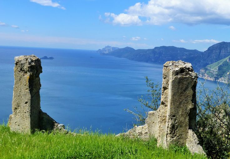 The amazing view of the Amalfi Coast all the way to Capri