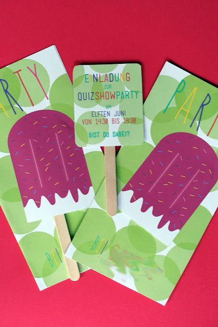 Süße Einladungen Als Eis Am Stil Für Deinen Nächsten Kindergeburtstag!