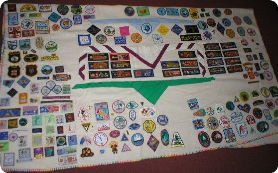 Camp Blanket with neckers - I want to get round to putting my neckers on like this!