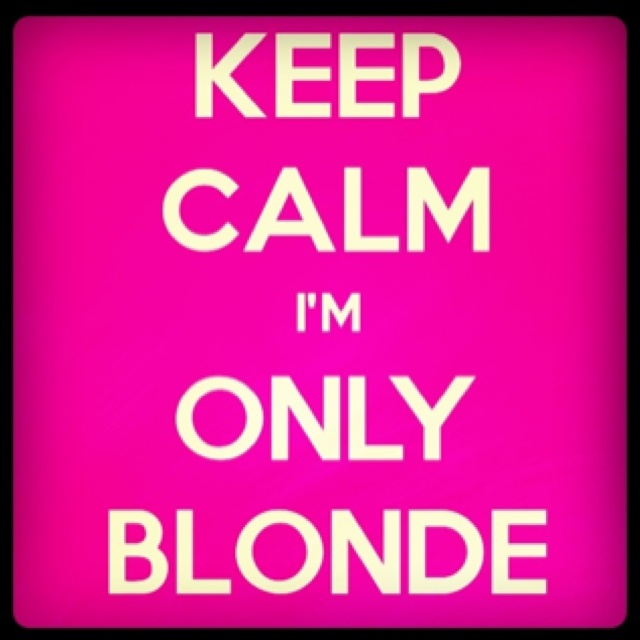 Quotes about being blonde