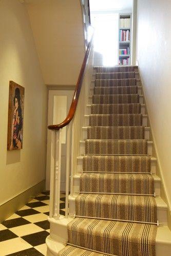 Shetland Sudbury Light Grey stair runner