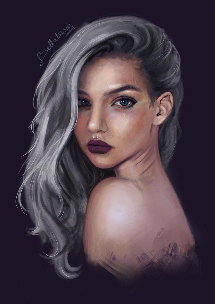 Aurora by Elvanlin   Fantasy portraits, Digital artist
