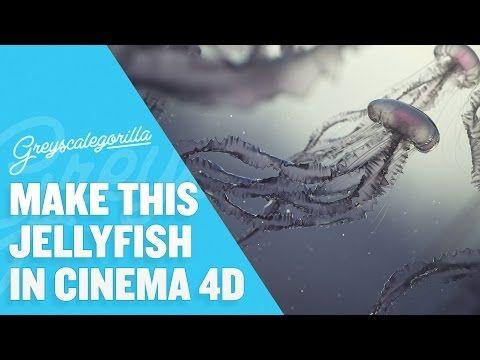 Cinema 4D Tutorial - Model, Texture, And Light A Jellyfish Scene - YouTube