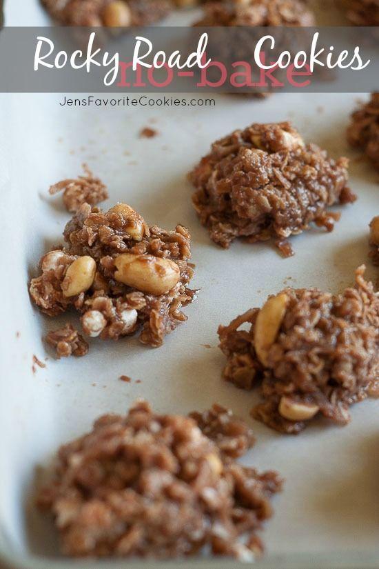 Rocky Road No-Bake Cookies from JensFavoriteCookies.com