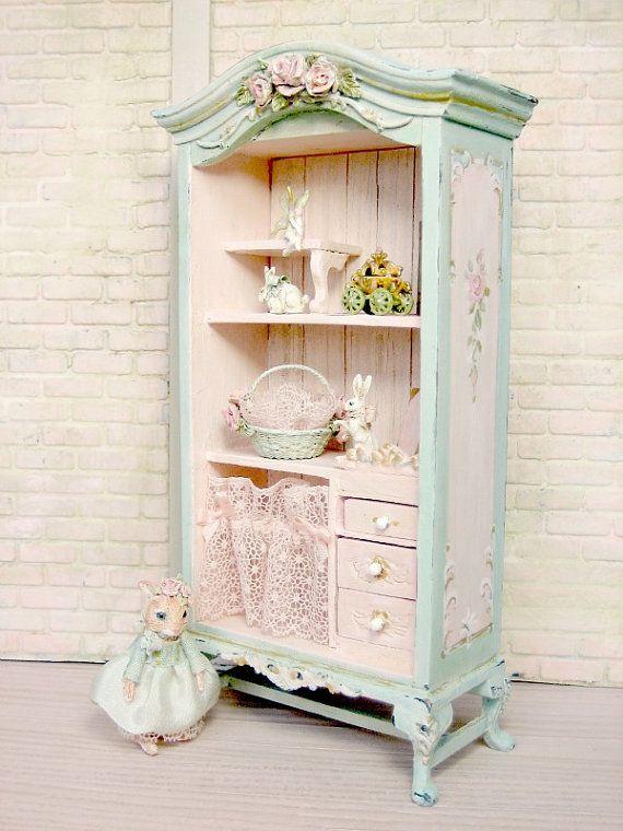 Penique  cutre francés Cottage Chic hada rosa gabinete