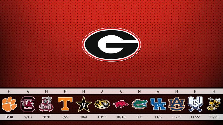 Georgia Bulldogs Schedule Wallpaper