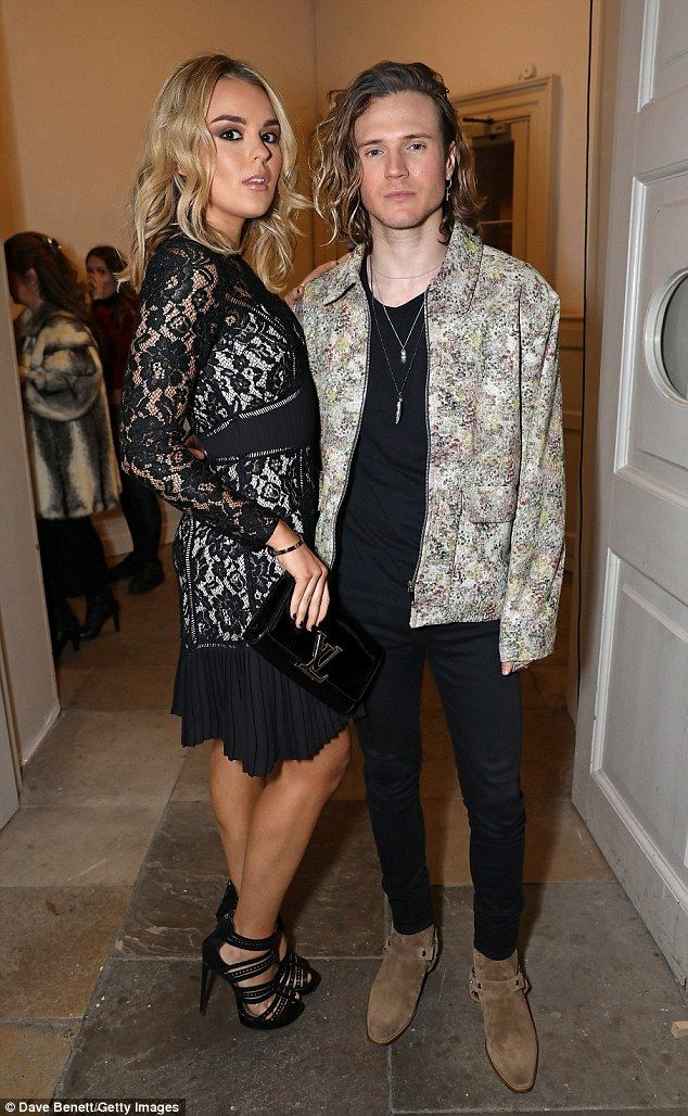 Sexy arrival: Tallia Storm, 18, stunned as she arrived in style with pal Dougie Poynter at the PPQ Autumn/Winter 2017 show during London Fashion Week on Friday night