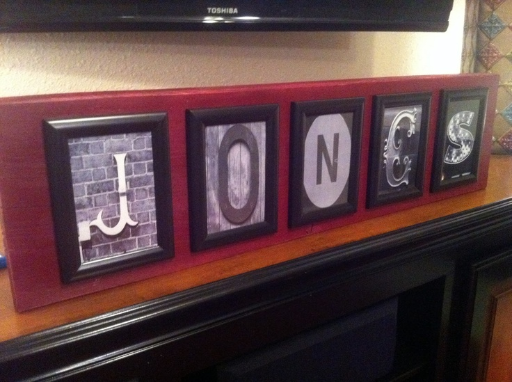 a sigh and sanity: Christmas on a Budget: DIY Letter Art Decor // Great idea for an inexpensive letter art project.
