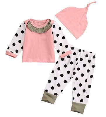 This Pink Dots Set is a cute and stylish outfit for your baby girl during cold weather! Available for 0-14 months. Get it here 👉 https://petitelapetite.com/products/pink-dots-set