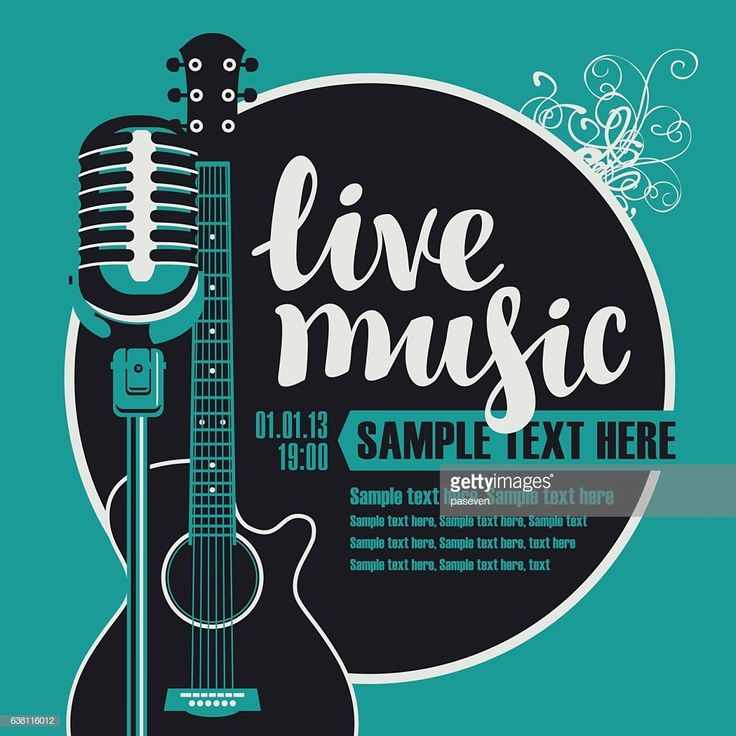 Vector Art : Acoustic Guitar And A Microphone