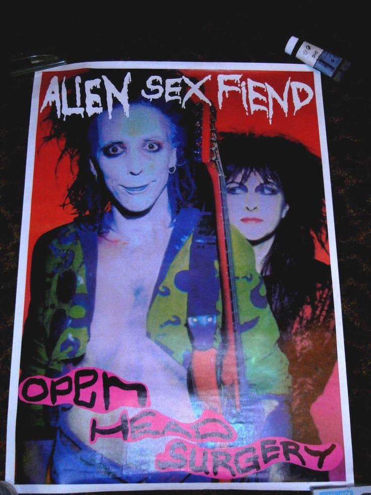 Alien Sex Fiend Open Head Surgery Poster UK Out of Print Deathrock Batcave Punk