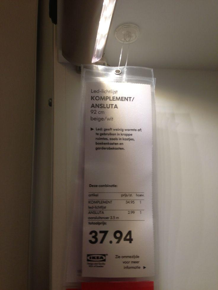 Ikea ledverlichting in pax kast