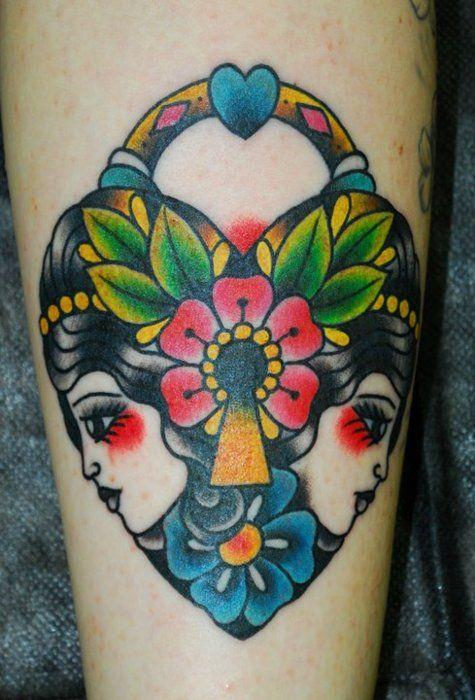 tattoome:    Padlock #tattoo byMiss Arianna