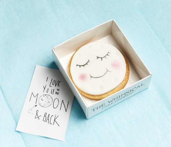 Valentines Day Gifts :    I Love you to the Moon and Back Cookie