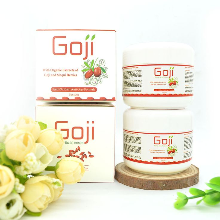2017 Organic anti aging Goji berry facial cream revitalizing cream for face chinese wolfberry medlar wrinkle removal treatment