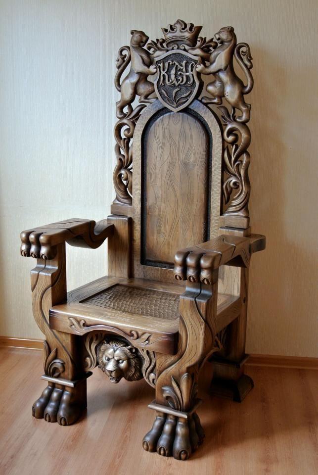 трон из дерева своими руками фото
