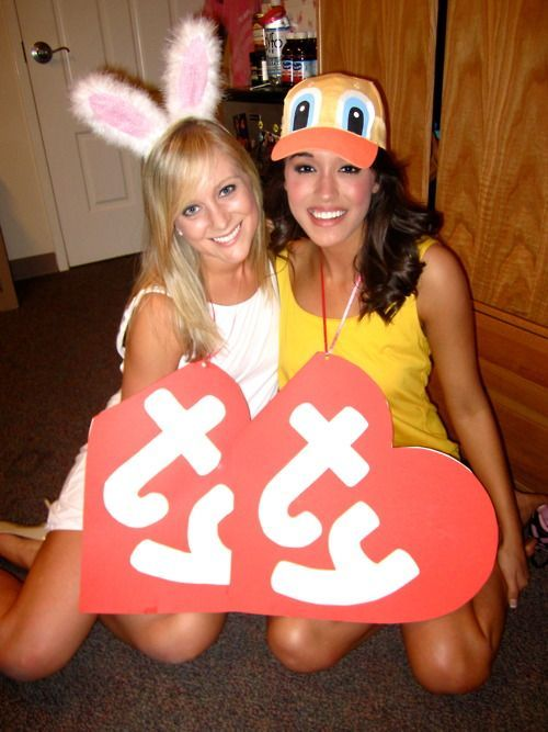 TY Babies (There are SO many TY Babies - the possibilities are endless!) - The Perfect Halloween Costumes for Sorority Sisters - Couple and group costumes for females! www.pagebypaige.ca