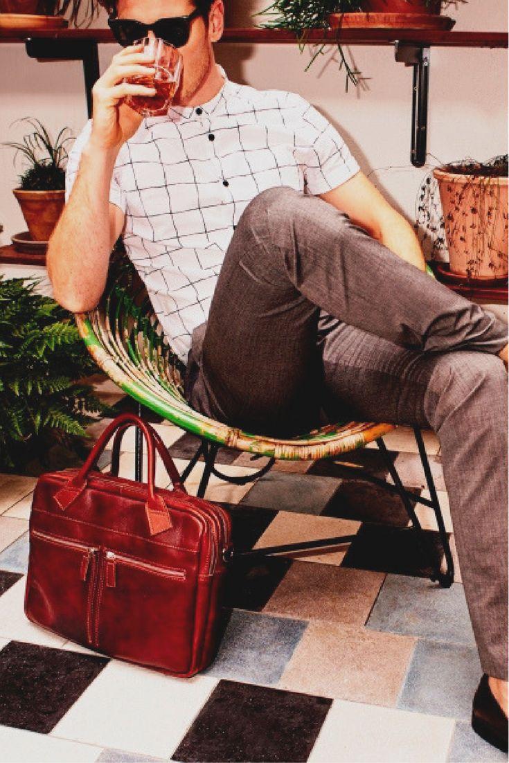Find the Best Men's Messenger  & Business bags for men by Cowboysbag.