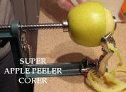 An Apple Peeler and Corer gadget is great! Peels potatoes too. More info. at easy-food-dehydrating.com