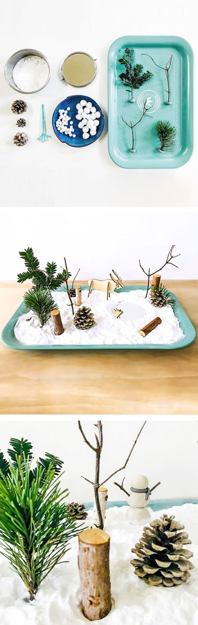 This fun wintry little invitation to create combines Montessori-style exploration and mindful play + quiet exercises in meditation. | via barley & birch