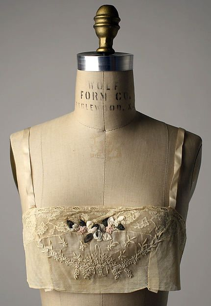 Wedding lingerie Date: 1927 Culture: French Medium: silk, cotton, metal Accession Number: C.I.59.8.1a–c