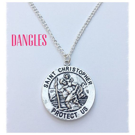 St. Christopher Necklace DB7 by DanglesBoutique on Etsy
