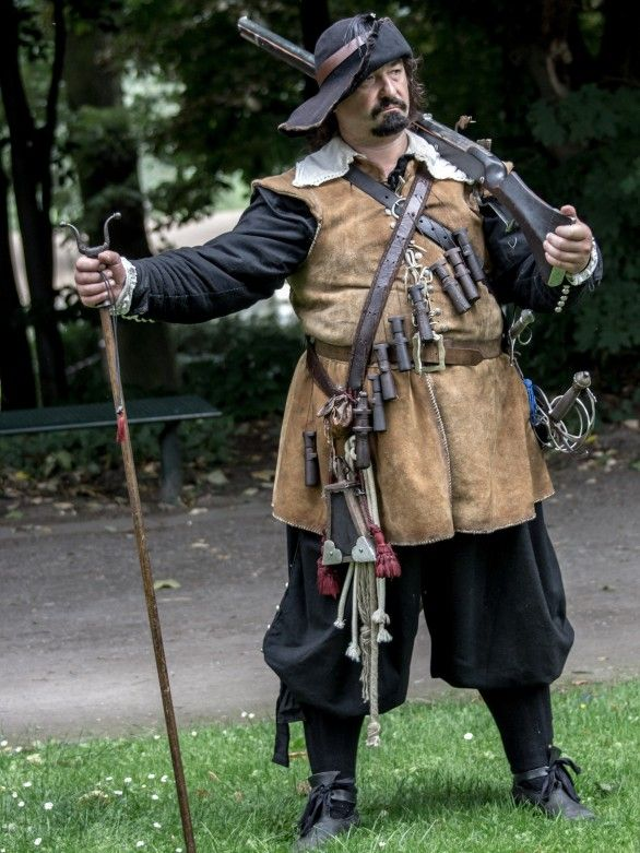 17th century German musketeer