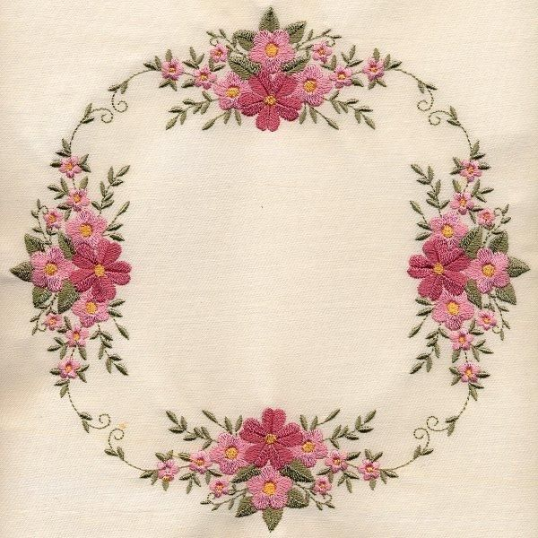 """""""8x8 Inch Floral Quilt 1"""" Give the perfect gift with these 8 elegant designs, stitched with love on a quilt!"""