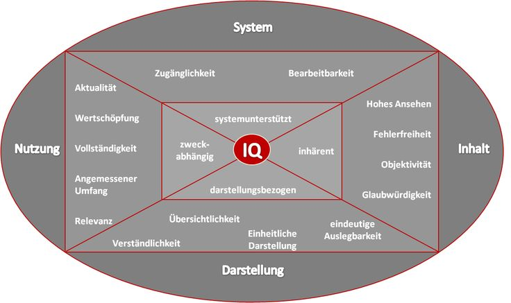 15 Dimensionen der Informationsqualität nach DGIQ e.V.