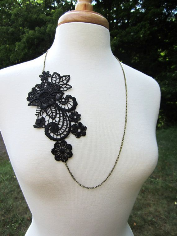 Lace Necklace Lace Jewelry by EclectionsGifts on Etsy, $17.50