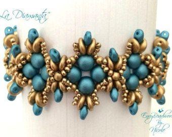 For all 3 colorways Beading Kit:CalytrixEarrings door EnvyBeadwork