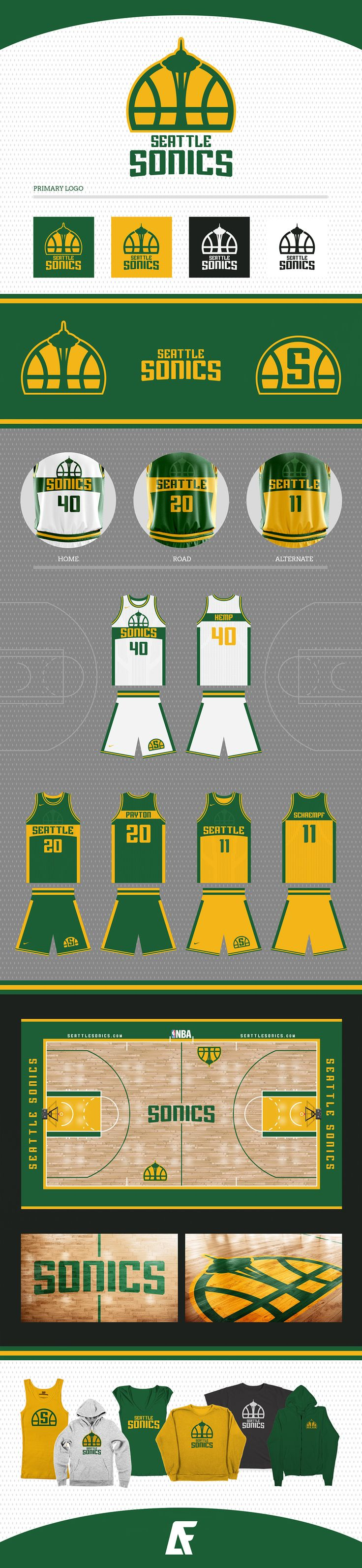 Seattle Sonics Identity concept by Addison Foote